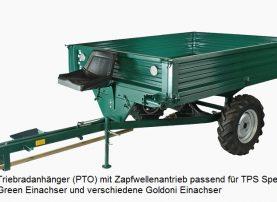 Triebradanhänger PTO PTS Special Green Einachser