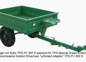 Anhänger mit Sulky für TPS Special green Einachser