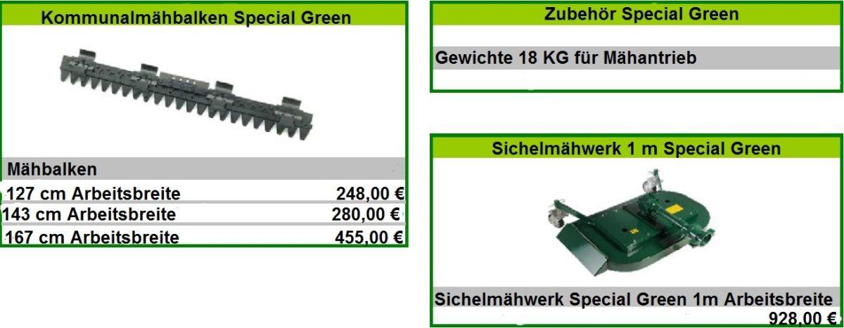 Mähbalken Special Green 2
