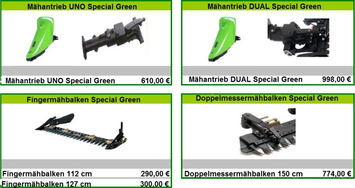 Mähbalken Special Green