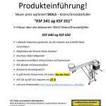 Produkteinführung Skals Kisten u. BigBag Füller Serie KSF