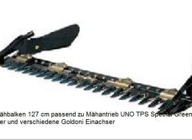 Fingermähbalken 127 für UNO TPS Special Green