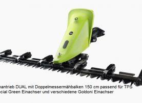 Mähantrieb DUAL Einachser TPS Special Green