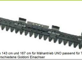 Messermähbalken 143 und 167 cm für TPS Special Green