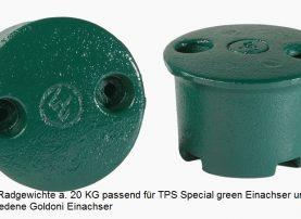Radgewichte Einachser TPS Special Green