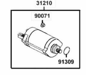 Anlasser kpl. für Kymco MXU 700i LOF