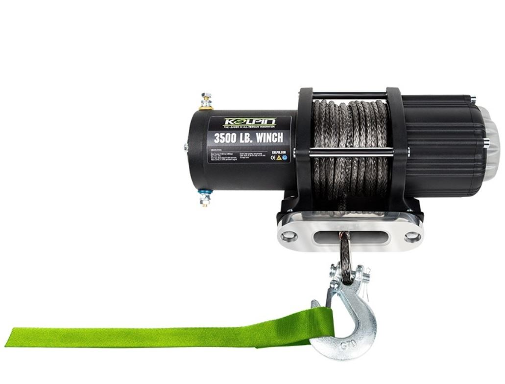 Kolpin Quad/ATV Winch Seilwinde 3500, Kunststoff -Synthetik -Nylon -Seil Zugkraft 1,5 to
